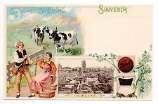 SUISSE SWITZERLAND canton FRIBOURG Friburg carte 1900 chocolat Suchard  Souvenir