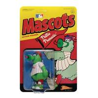 MLB MASCOT Philadelphia Phillies PHANATIC 3.75 INCH REACTION Figure SUPER 7