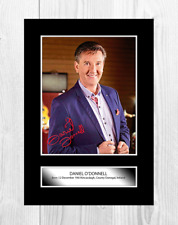 More details for daniel o'donnell a4 reproduction autograph photograph poster choice of frame