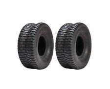 Set of 2 Turf Tires 15x6-6 Tubeless 2 Ply John Deere Cub Cadet Lawnmower Tractor