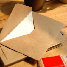 100pcs Vintage DIY Multifunction Kraft  Paper Envelope For Letters High Quality#
