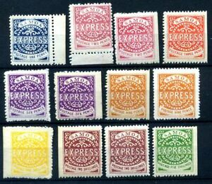 Samoa 1877 mint selection mostly with gum presumed reprints