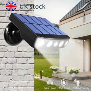 LED Solar Powered PIR Motion Sensor Lamp Outdoor Garden Security Wall Lights UK