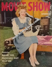 LUCILLE BALL  - MOVIE SHOW  MAGAZINE - NOV 1943