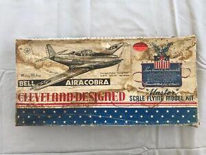 "VINTAGE CLEVELAND DESIGNED PLANE MODEL Bell Airacobra ""Cannon Plane"""
