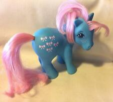 VINTAGE G1 MY LITTLE PONY HASBRO 1983 BOWTIE EARTH-BLUE TANGLE FREE SOFT HAIR