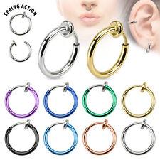 Titan Fake Septum Segment Ring Nasenring Augenbrauen Piercing Ohrring Helix