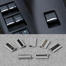 7Pcs Chrome Door Window Switch Button Cover Trim For Honda CR-V Vezel 2014-2015