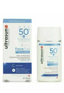 Ultrasun Anti-Pollution Face Fluid SPF50+ 40 ml NEW