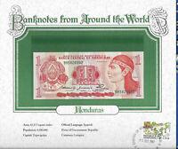 World Banknotes Honduras 1 Lempira 1980 P 68a UNC Prefix BH