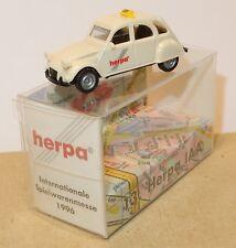 MICRO HERPA HO 1/87 CITROEN 2CV 6 IAA TAXI SPIELWARENMESSE 1996 IN BOX