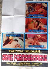 manifesto movie poster 4F ORGIE PORNOGRAFICHE SEJOURN BENAZERAF  CINEMA HARD