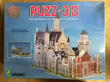 NEW VINTAGE 1991 WREBBIT PUZZ 3D BAVARIAN CASTLE PUZZLE FACTORY SEALED