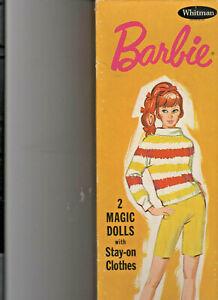 1969 Mattel Barbie 2 magic paper dolls & clothing in the original box.