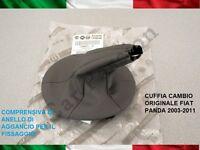 CUFFIA CAMBIO FIAT PANDA 2003-2011 ORIGINALE IN PELLE CON AGGANCI gear boot