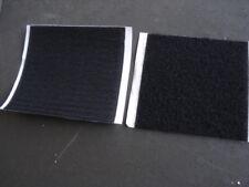 Carré de 100x100mm scratch noir autocollant (Bande agrippante adhesive)