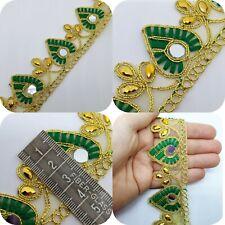 Latest Indian Pink /& Gold Sari Dupatta Lace Trim Border 1M