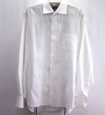 TASCA Royal Oxford Mens  Long Sleeve Dress Shirt L White Button Front