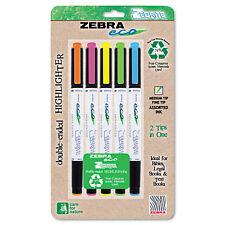 Zebra Eco Zebrite Double-Ended Highlighter Chisel/Fine Point Tip 5/Set 75005