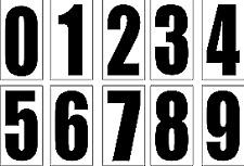 3 x Custom Race Numbers Vinyl Stickers Dirt Bike Motocross Trials Decals 5 inch