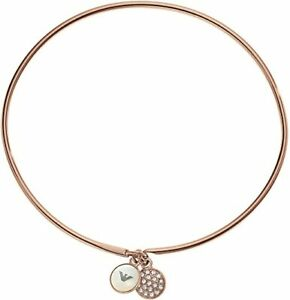 Emporio Armani EGS2155221 Signature Women's Rose Gold Bangle Bracelet