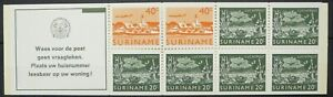Suriname stamps booklet - Surinamese images_4 - MNH.