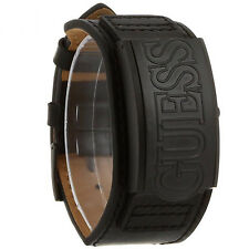 GUESS MEN'S CUFF DOOR  STAINLESS BLACK ION  WATCH, W0358G1 NEW/TAGS/SACK.. GIFT