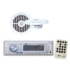 """*KIT* Pyle Marine Audio Kit Radio Head Unit  SD/MMC/USB w/ 5 1/4"""" 100W Speakers"""