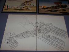 VINTAGE..SE-5A..COLOR PHOTOS/2-PAGE CUTAWAY...RARE! (603F)