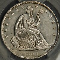 1859-O Seated Liberty Half Dollar PCGS AU Details 50C