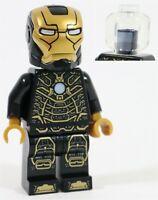 LEGO AVENGERS IRON MAN BLACK GOLD MK41 ARMOR MINIFIGURE 76125 MARVEL SUPERHEROES