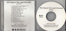 B.B. KING In The Land Of Jordan 1999 US 18-track advance promo CD-R BB