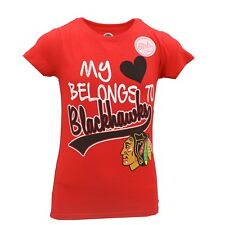 Chicago Blackhawks Official Nhl Apparel Kids Youth Girls Size T-Shirt New Tags
