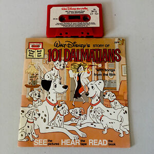 Walt Disney 101 Dalmations SEE HEAR READ Book &  Cassette (1982)