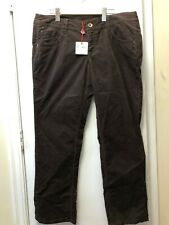 Womens Chocolate Brown Corduroy pants. By Espirit. Size 14 NEW with tags.