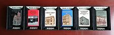 Zippo Historic Building Lighters Set of 6, ALL #59 in series *Limited Edition*