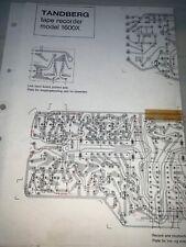 Tandberg 1600X Tape Recorder Parts List Schematics