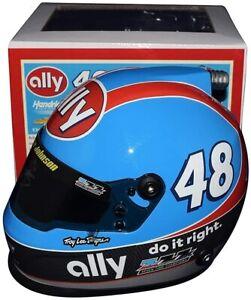 SIGNED 2020 Jimmie Johnson #48 DARLINGTON Petty Earnhardt Tribute Mini Helmet