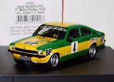 OPEL KADETT GTE BP #4 CLARR/SYER WINNER MILLE PISTES 1976 TROFEU 2102 1/43