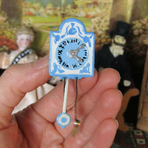 Vintage Antique Dollhouse CUCKOO WALL CLOCK GERMANY Artisan Soft Metal Miniature