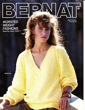 Bernat Book No. 618 WORSTED WEIGHT FASHIONS to Knit featuring Cajun Cotton