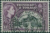 Trinidad and Tobago 1953 SG274 12c black and purple Town Hall QEII FU