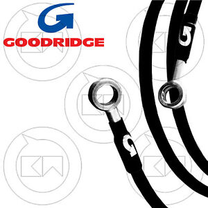 Goodridge Set Brake Pipes IN Braided Steel Diretti Black Yamaha YZF 600 R6 2015