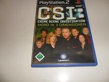 PlayStation 2  PS 2  CSI: Crime Scene Investigation - Mord in 3 Dimensionen
