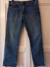 "Man's M&S BLUE HARBOUR STRAIGHT LEG MID BLUE JEANS - W34""  L29"" - Regular"