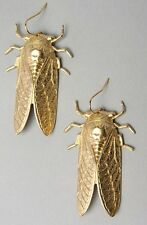 NEW Anthropologie Gold ENTOMOLOGY Hanging Earrings