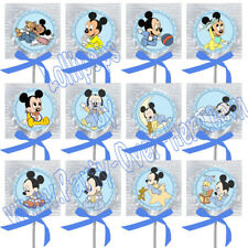 CAT8MC PRIVATE LISTING:  24 Baby Mickey Mouse STICKERS ONLY w/ Baby  Blue Bows