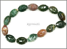 Fancy Jasper Blood Stone Oval Faceted Beads 14mm #69121