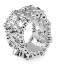 Relic Stretch Ring with Crystal Silver base Metal