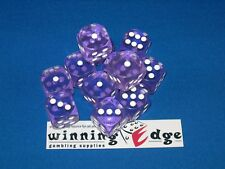PURPLE ACRYLIC DICE 16mm (24 PACK) BUNCO PARTY DICE GAMES, FREE SHIPPING